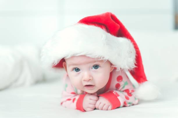 Baby Santa stock photo