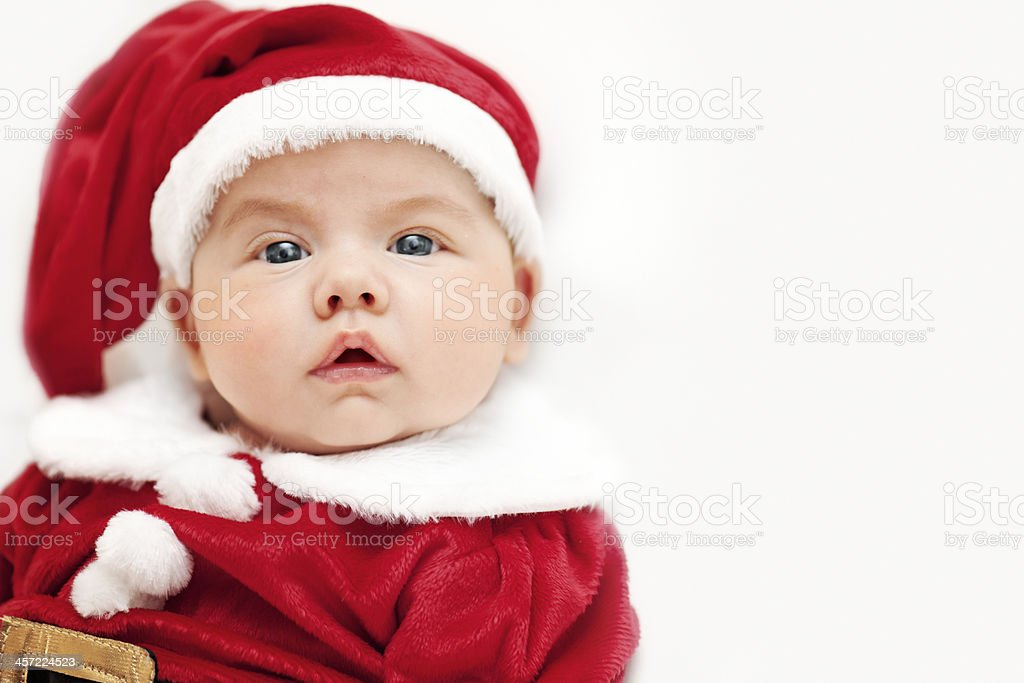 Baby Santa royalty-free stock photo
