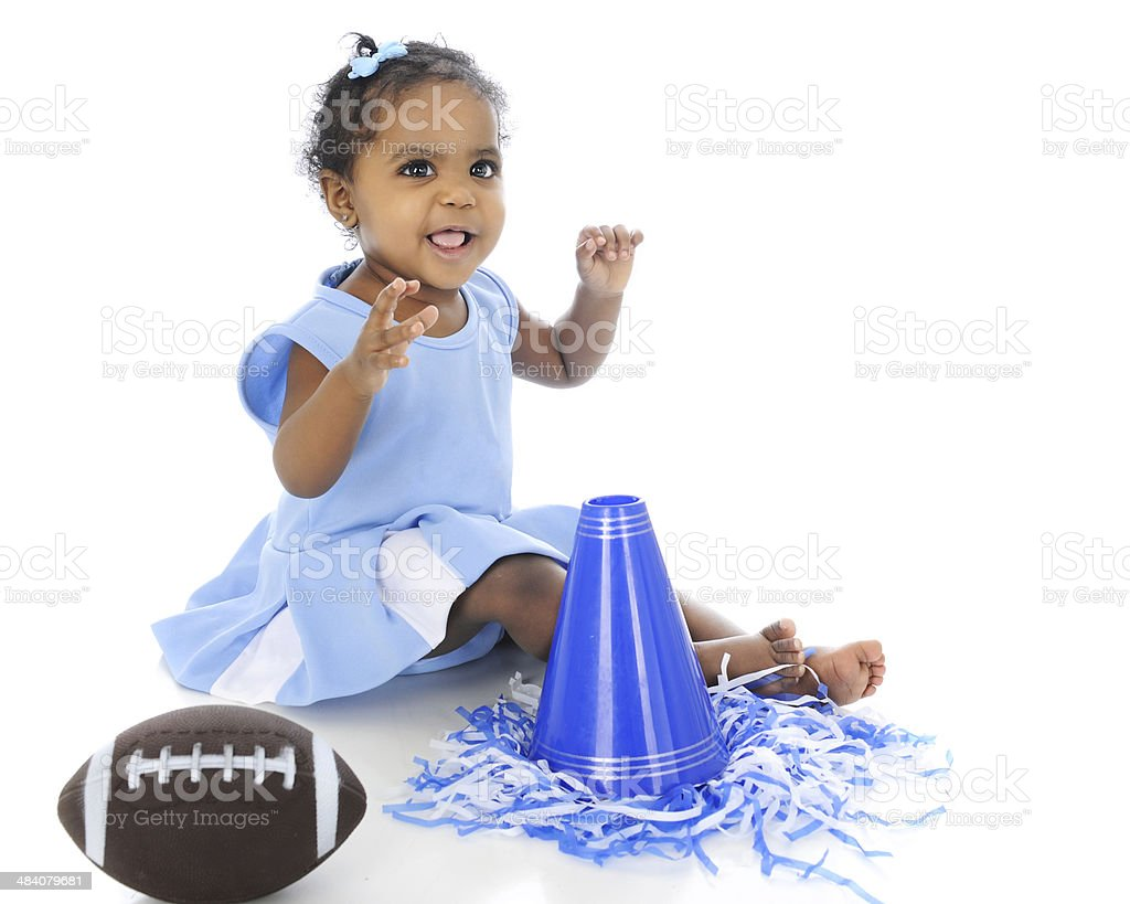 Baby Says, 'Go, Team!' stock photo