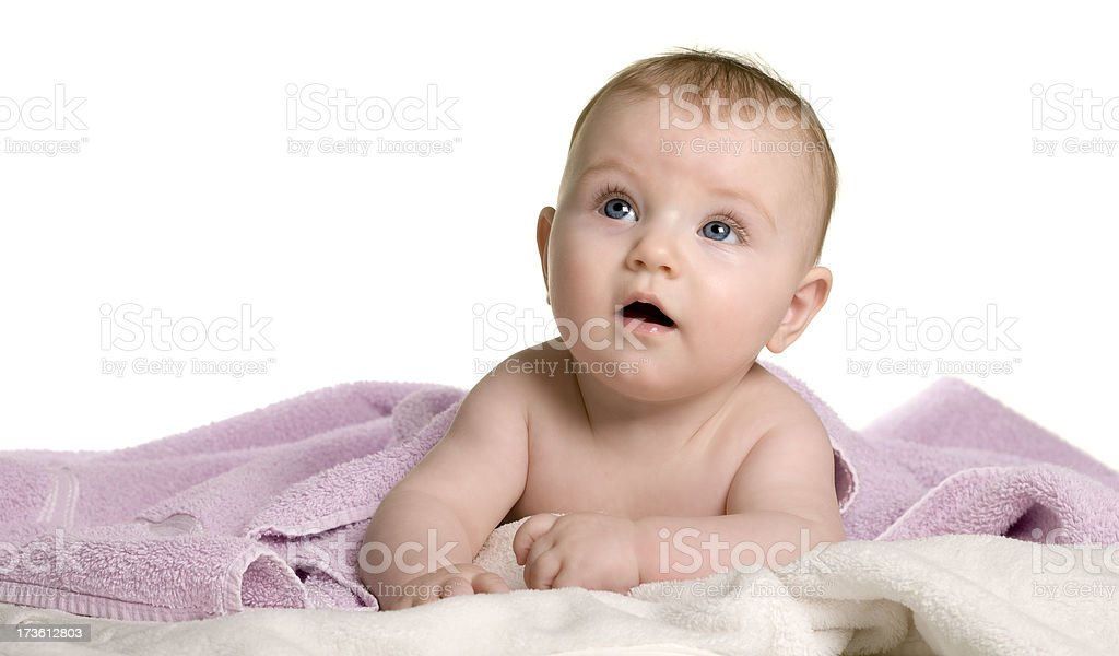 Baby series. After the bath royalty-free stock photo