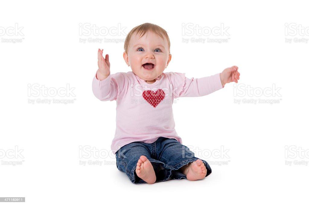 Baby series. cheerful girl royalty-free stock photo