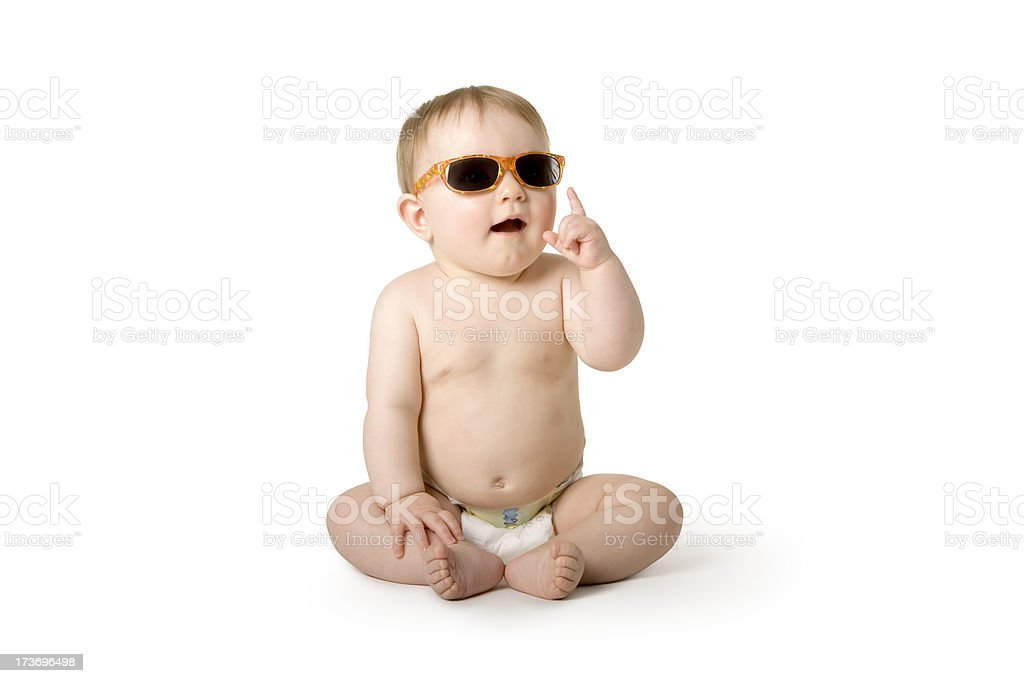 Baby series. cool girl stock photo