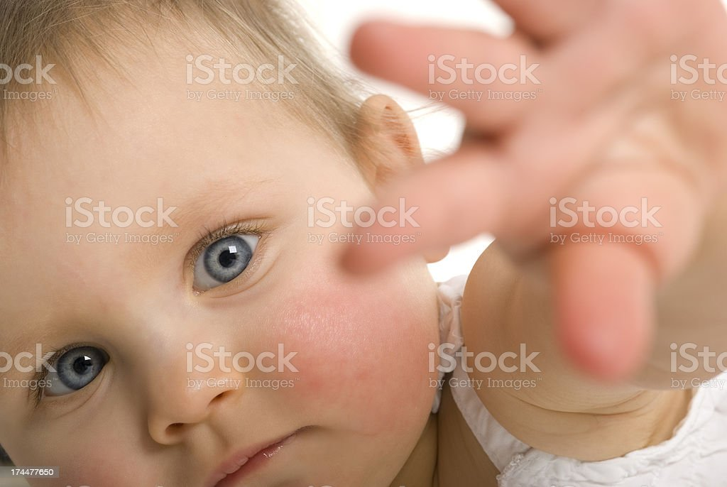 Baby series. give me that! royalty-free stock photo
