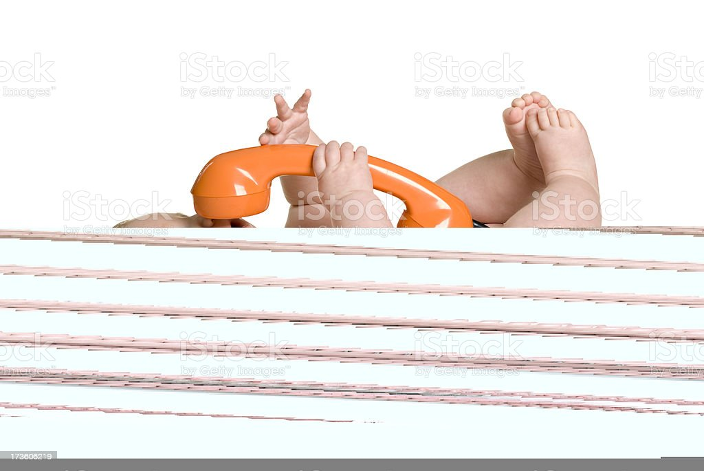 Baby series. how stupid are you?! stock photo
