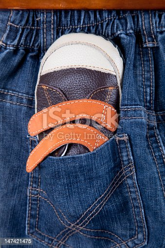 Child's shoes isolated over a white background