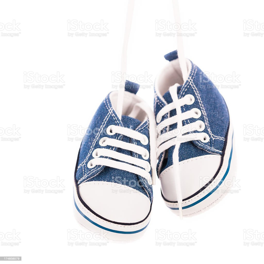 Baby shoes isolated on white stock photo