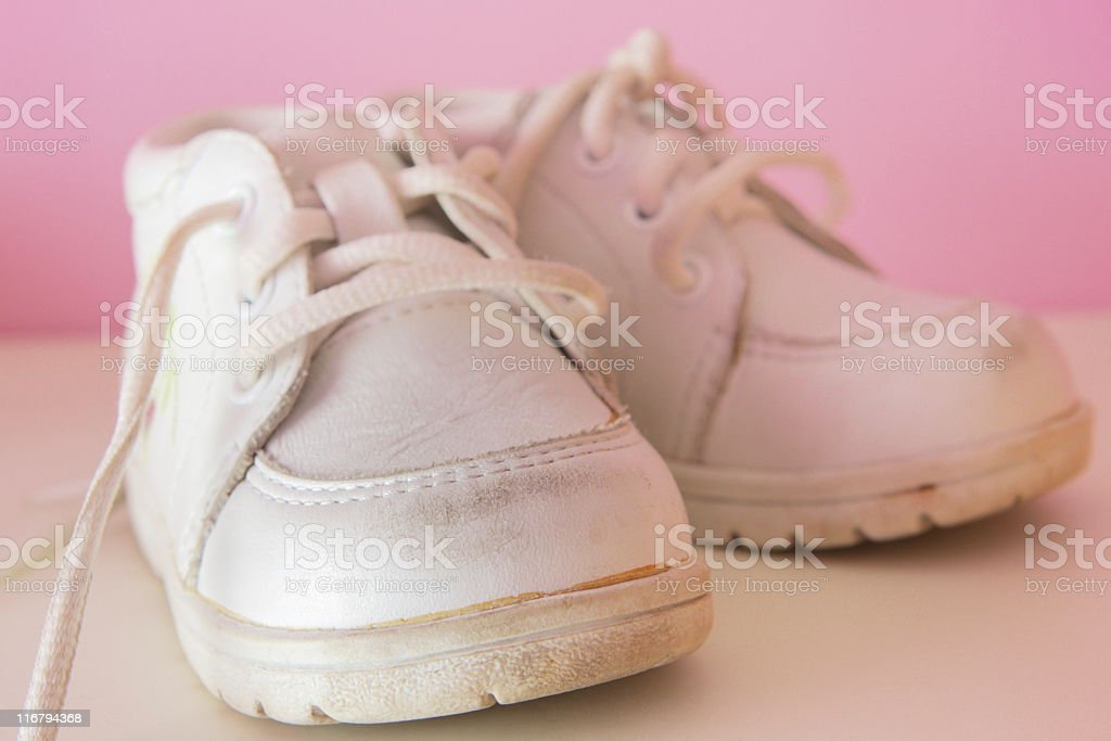 Baby Shoes Toddler Girl Footwear stock photo