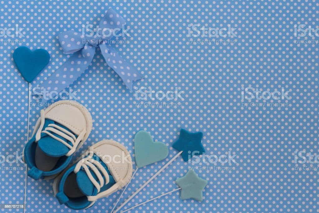 Baby shower background stock photo