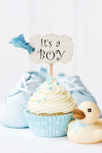 Baby Shower Cupcake Stock Photo - Download Image Now