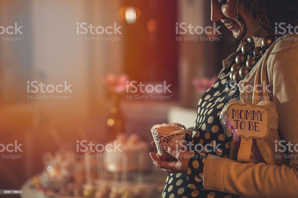 cupcake de chá de bebê - foto de acervo