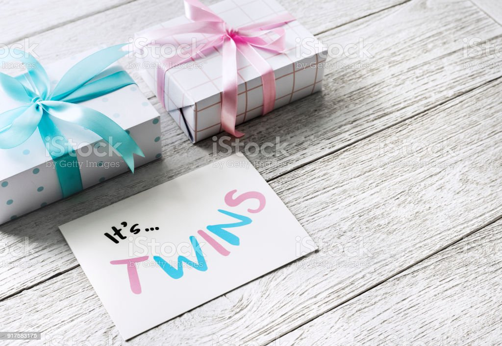 Baby Shower Gift For Twins Baby Stock Photo More Pictures Of Award