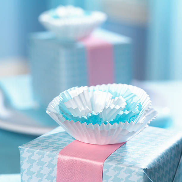 Baby shower gift stock photo