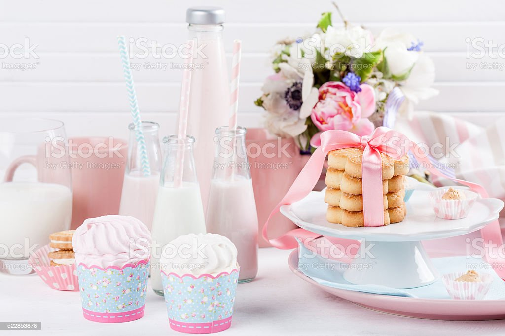Baby shower in pastel colors​​​ foto