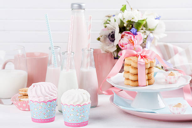 Baby shower in pastel colors stock photo