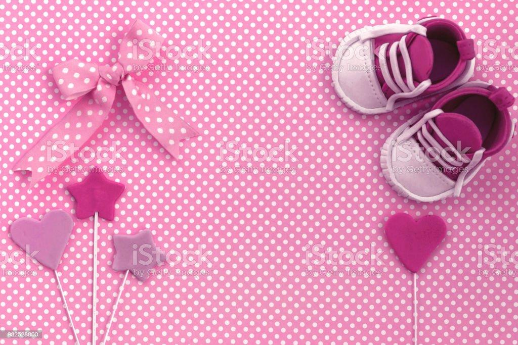 Baby Shower Invitation Newborn Background Stock Photo More