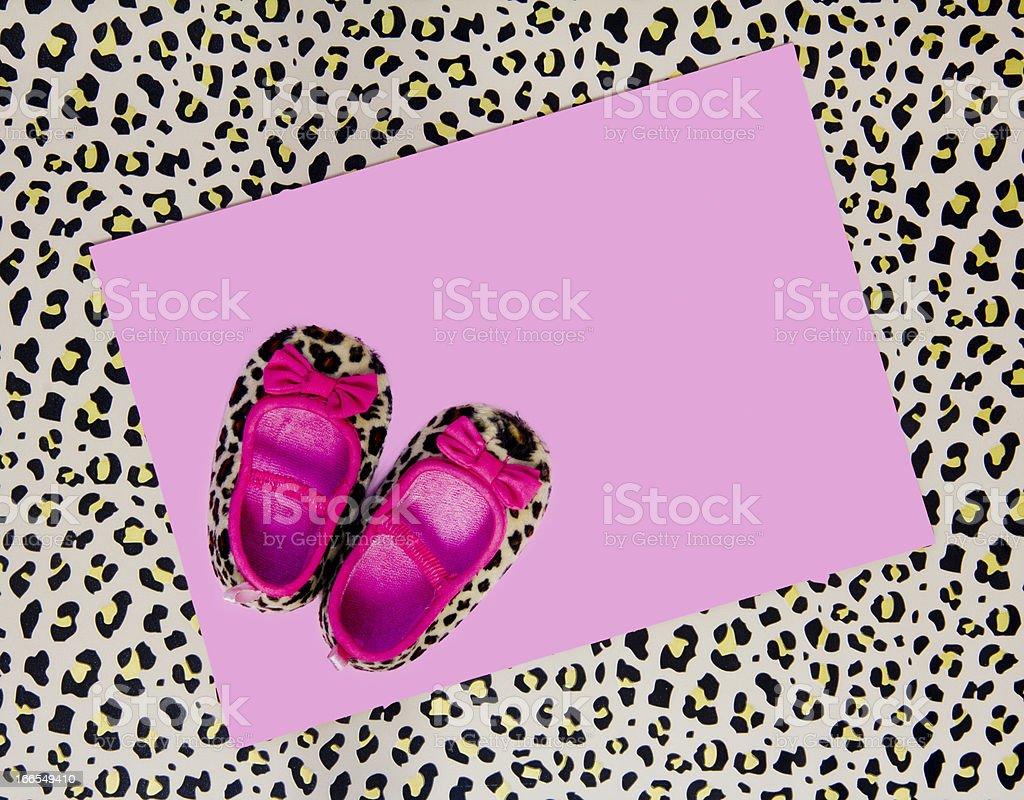 baby shower invite stock photo