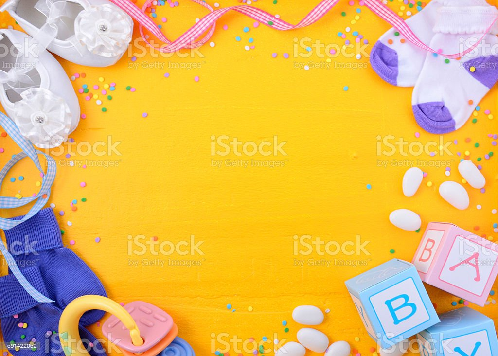 Baby Shower Nursery Background stock photo