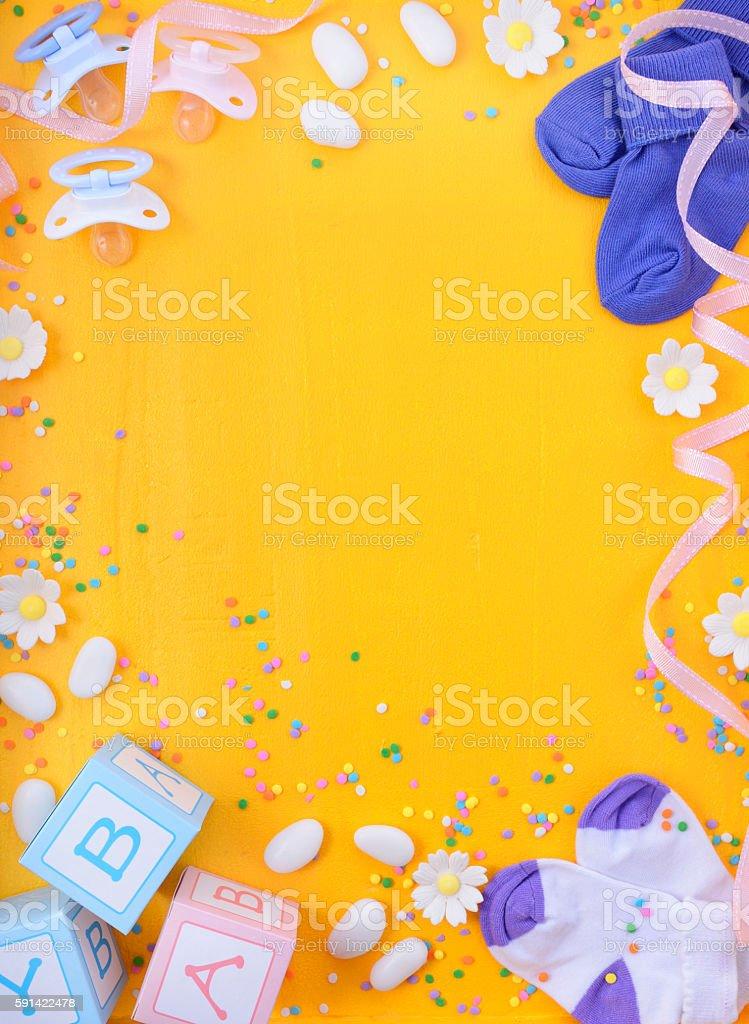 Baby Shower Nursery Background stock photo