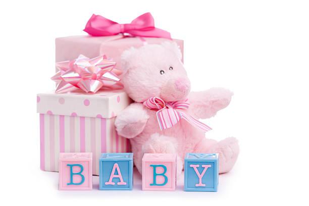 baby dusche - geschenk zur taufe stock-fotos und bilder