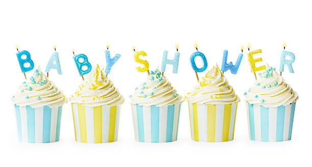 cupcakes bebé ducha - baby shower fotografías e imágenes de stock