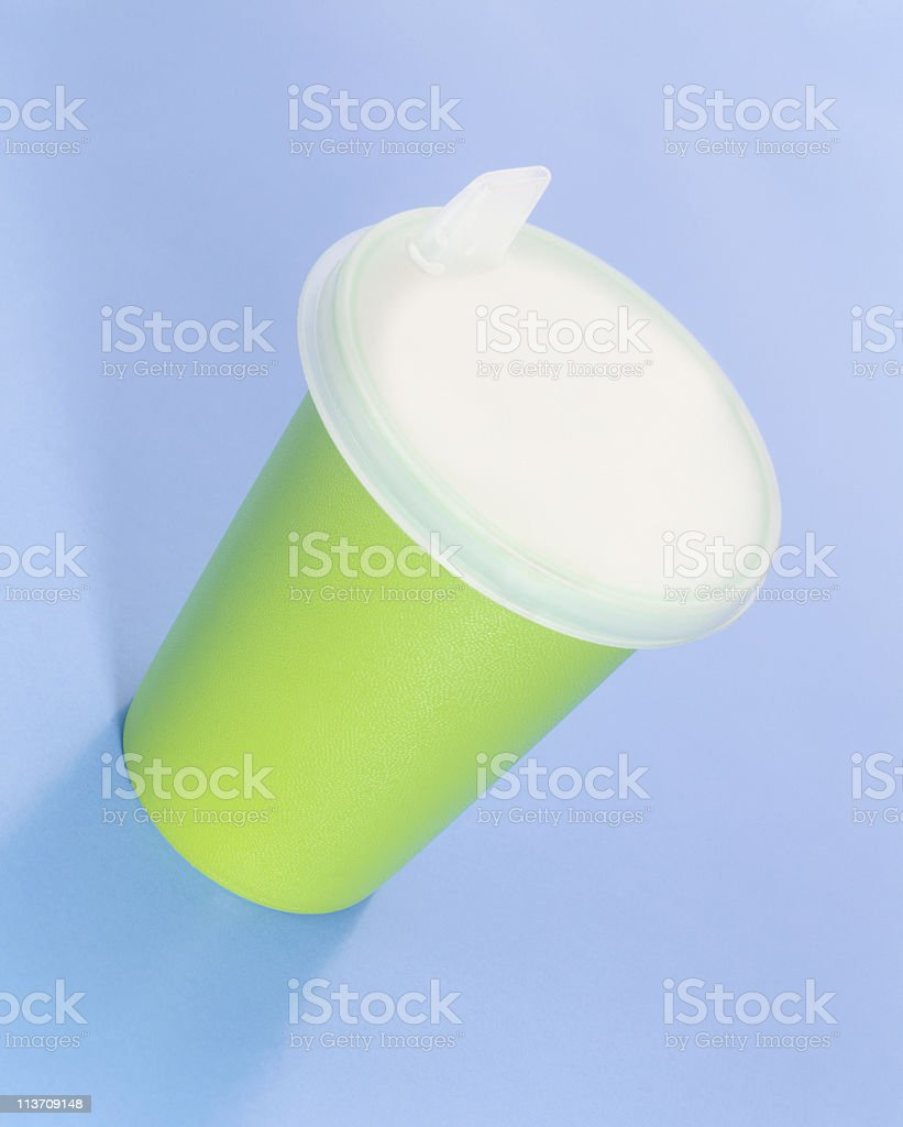 baby sippy cup stock photo
