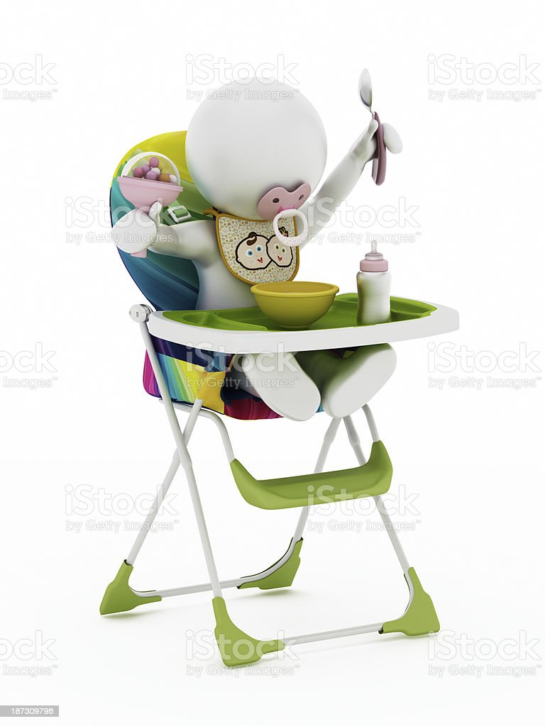 Baby Sitting In Feeding Chair Stock Photo Download Image Now Istock