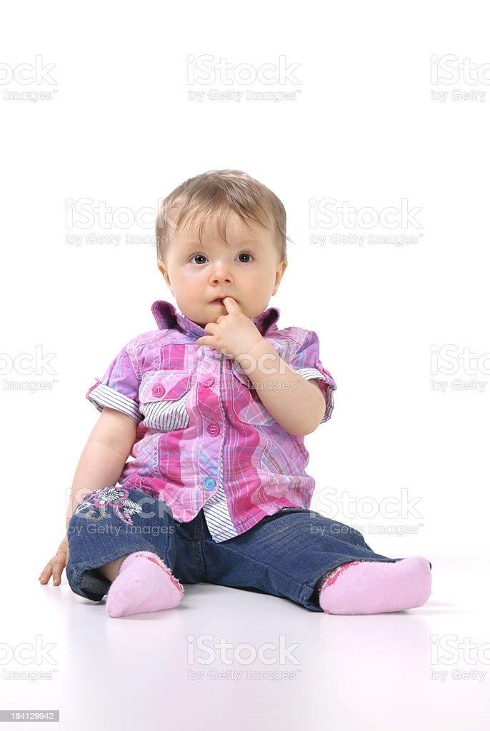 Baby sitting royalty-free stock photo