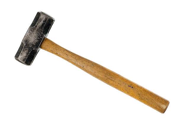 Baby Sledge Hammer A very well used big hammer isolated on a white background. hammer stock pictures, royalty-free photos & images