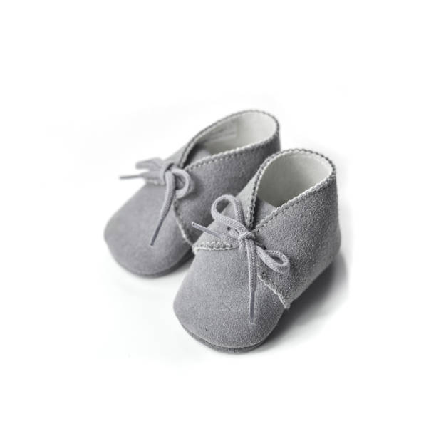Baby slippers stock photo