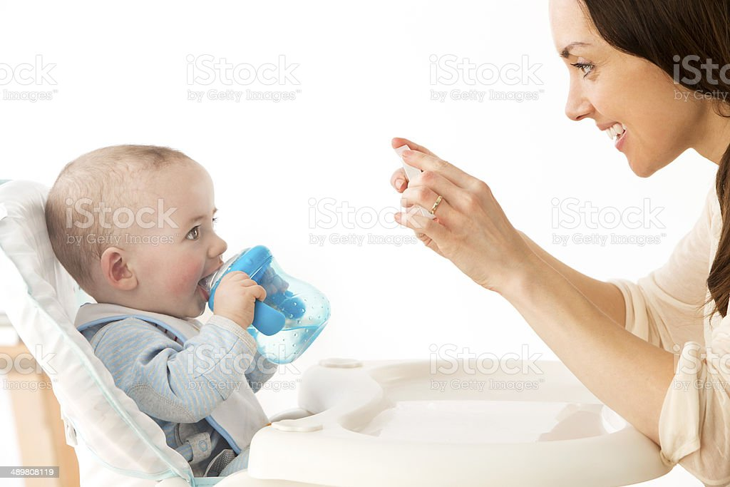 Baby Smiling for the Camera stock photo