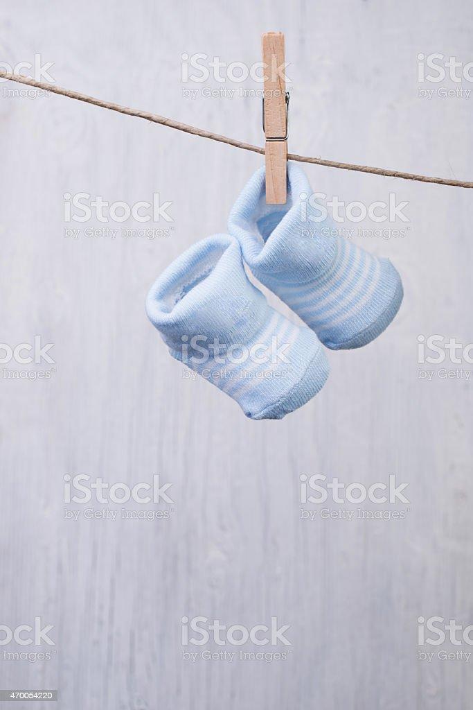 Baby socks stock photo