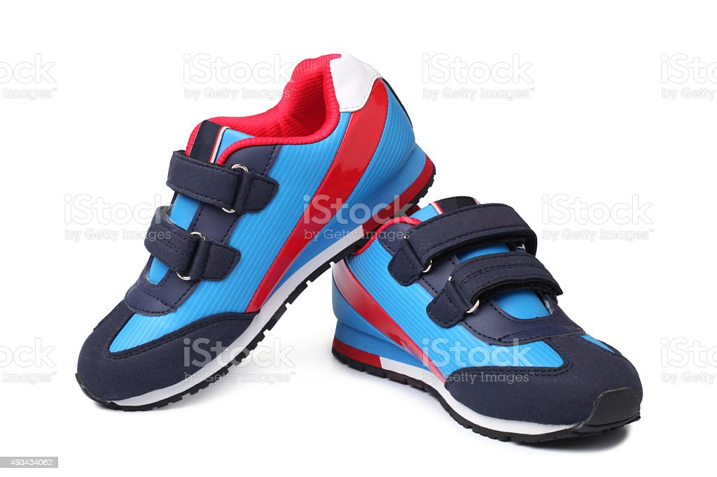 Baby sport shoes pair stock photo