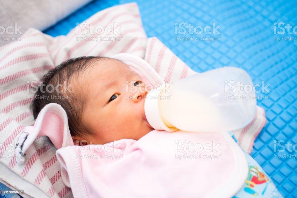 Baby Suck Bottle stock photo