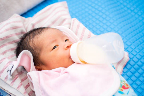 Baby Suck Bottle stock photo