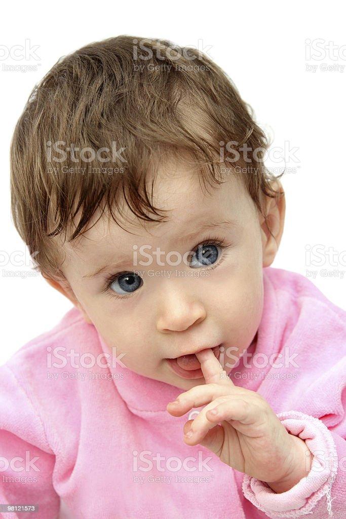 Ritratto di bambino Succhiare dita foto stock royalty-free