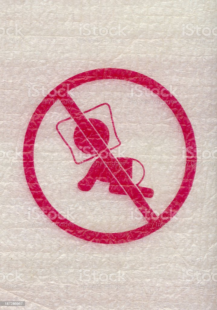baby suffocation danger sign stock photo