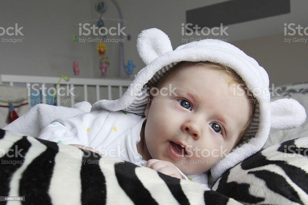 Baby Suprise. stock photo