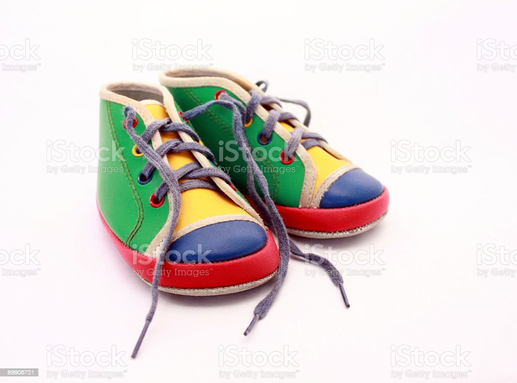 baby tennis shoes, brightly colored royalty-free stock photo