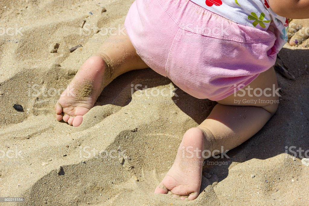 Baby toes and feet stock photo