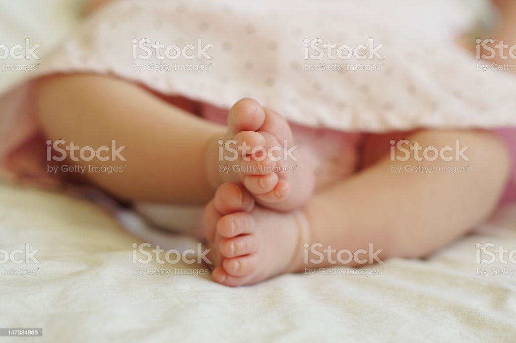 Baby Toes Pink2 stock photo