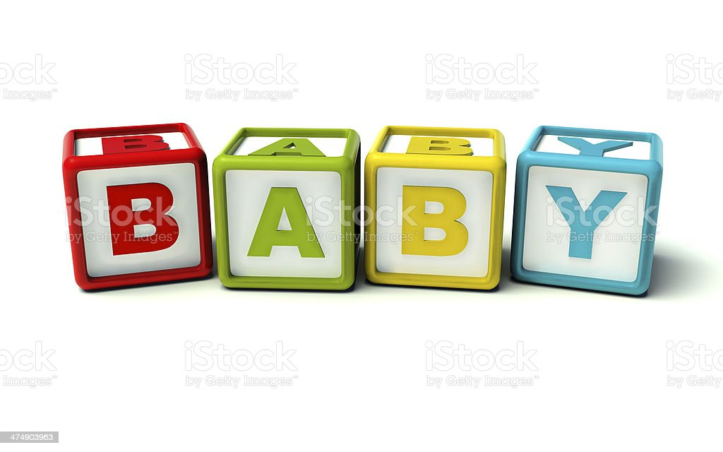 Baby toy cubes colorful stock photo