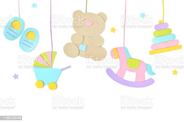 Baby toys hanging paper cut on white background picture id1155120249?b=1&k=6&m=1155120249&s=612x612&h=hijviysv8oaexdt5onw4g1agbbnvnuzy7wxpdqkd4ww=