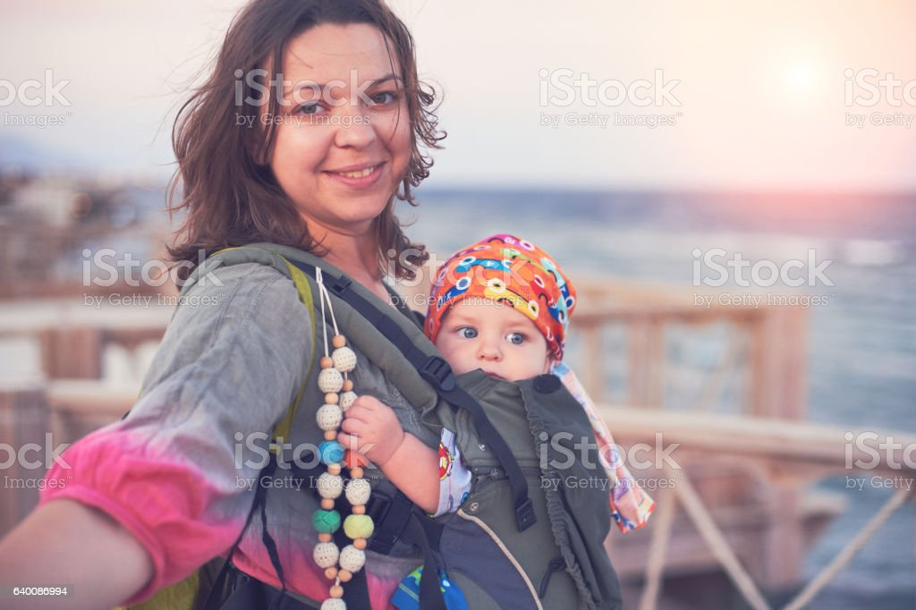 baby travel stock photo