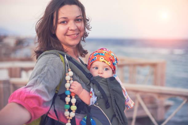baby travel stock photo