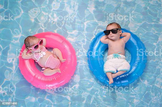 Baby twin boy and girl floating on swim rings picture id628951466?b=1&k=6&m=628951466&s=612x612&h=ppsi2v4fjjezgl03zd1xl75p1yglnxthmxfii3b00lg=