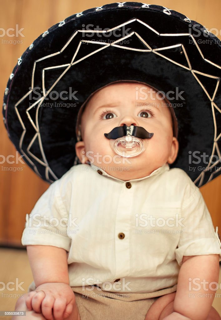 Baby Wearing A Mexican Sombrero Stock Photo   More Pictures of 2015 ... 3967452ddc1