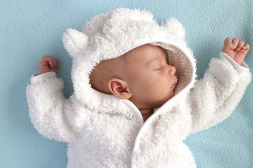 baby winter teddy bear snow suit stock photo download. Black Bedroom Furniture Sets. Home Design Ideas