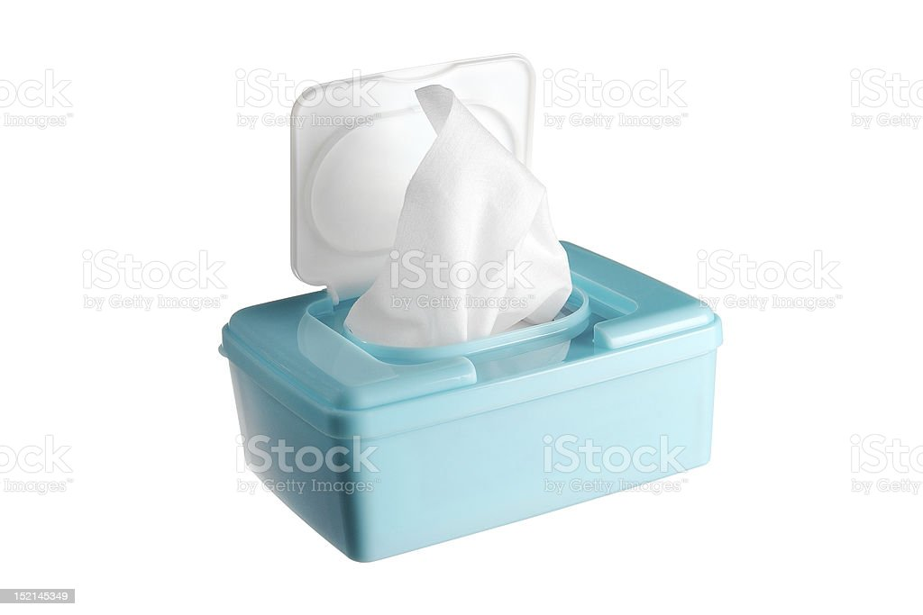 Baby wipes stock photo