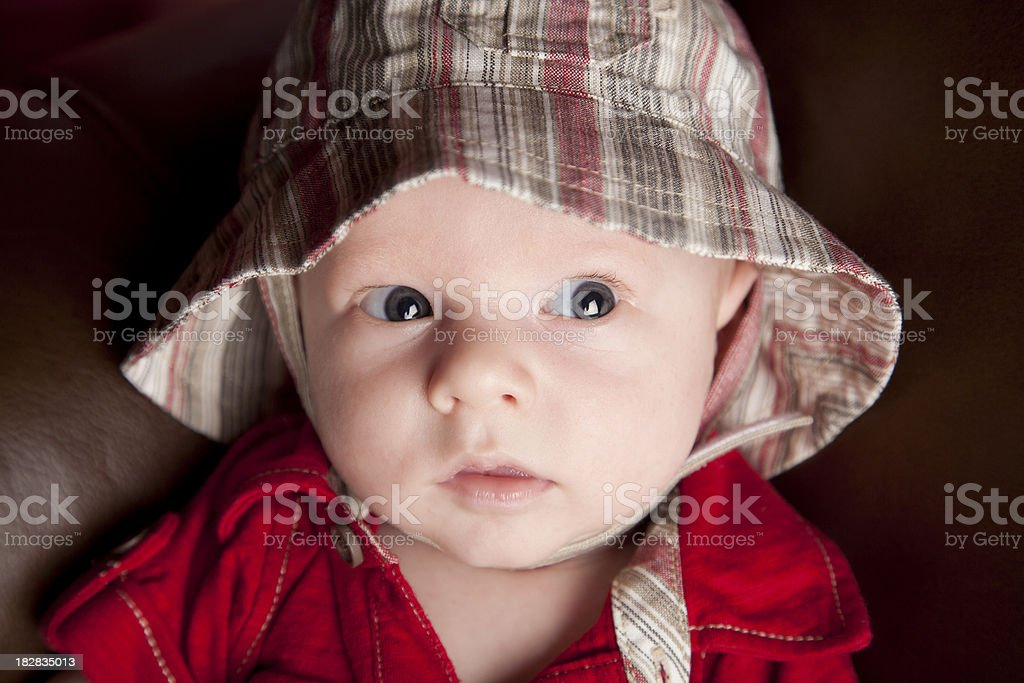 Baby with a Cute Hat stock photo