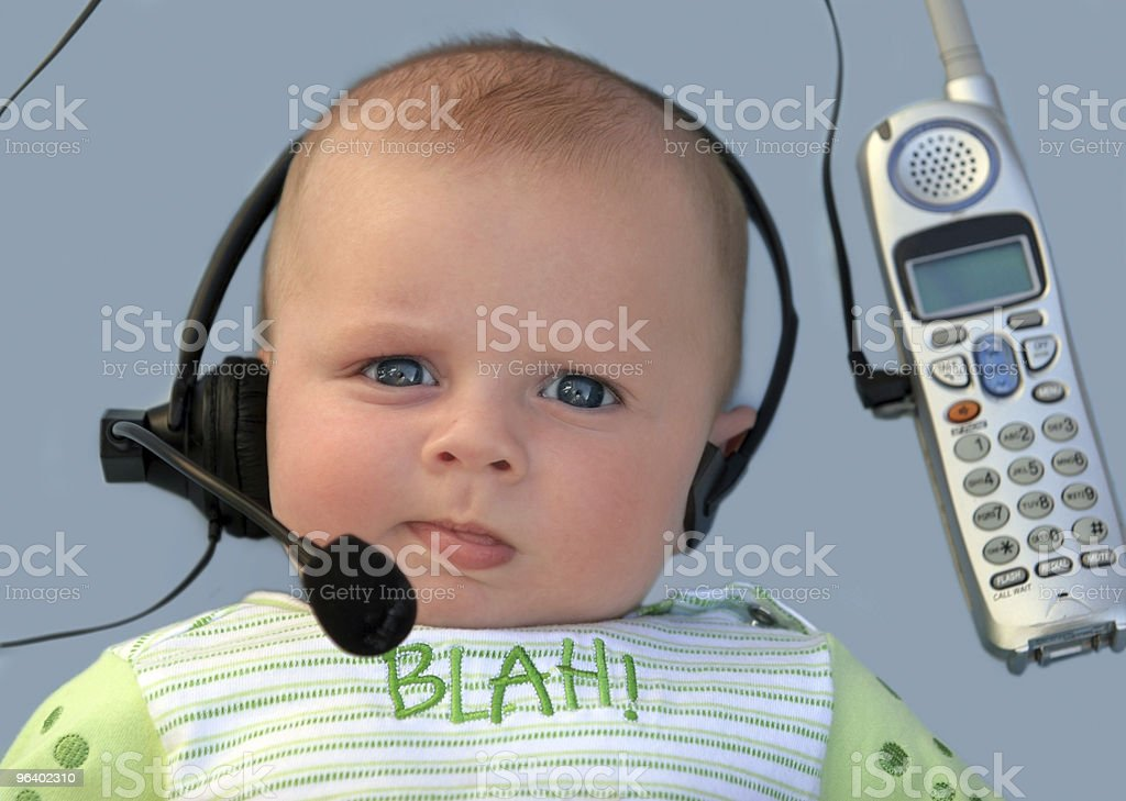 Baby with a headset - Royalty-free Baby - Human Age Stock Photo